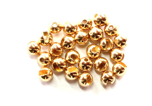FM Slotted Tungsten Beads Gold 2.00