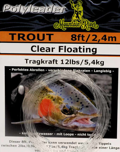 Mountain River Polyleader Trout 8ft