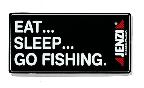 Jenzi Eat... Sleep... Go Fishing. Aufkleber
