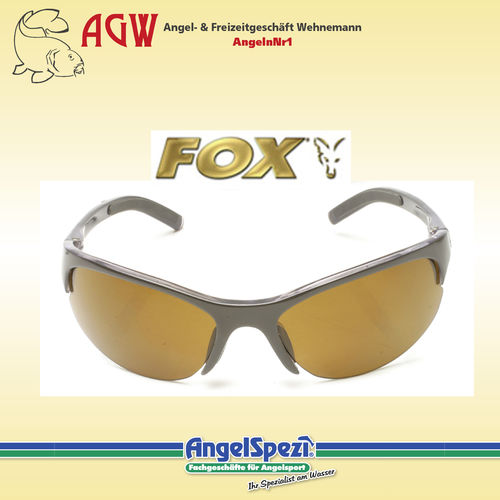 FOX 700 Series Black Frames Brown Lenses