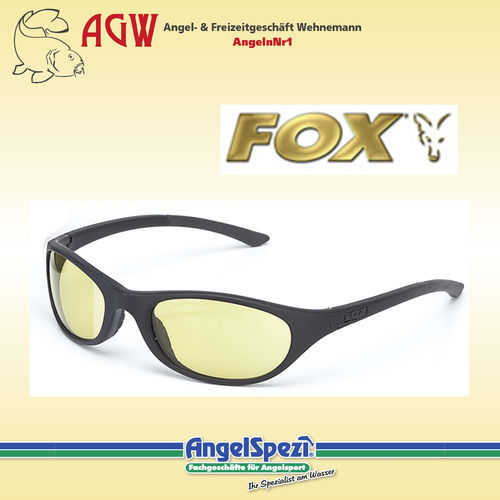 FOX 500 Series Black Frames Amber Lenses