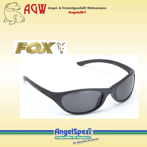 FOX 500 Series Black Frames Grey Lenses