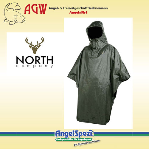 North Company Poncho green M/L