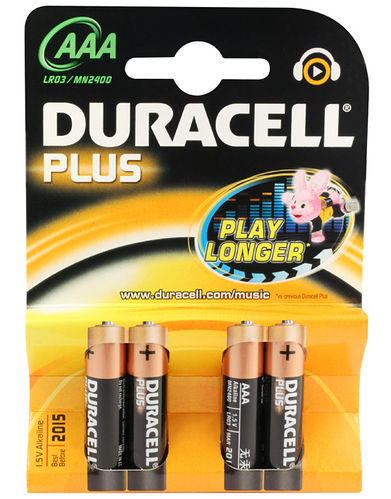 Duracell Plus Batterie AAA 1,5V 4er Pack