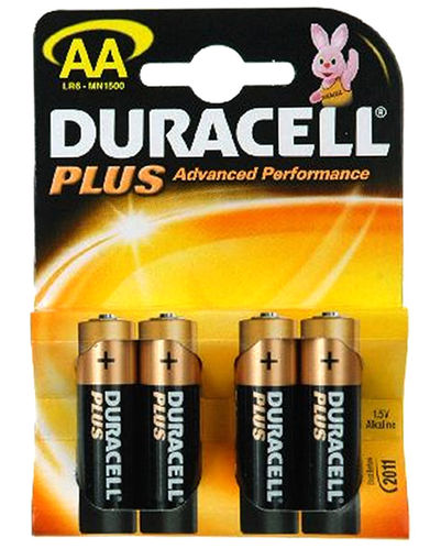Duracell Plus Batterie AA 1,5V 4er Pack