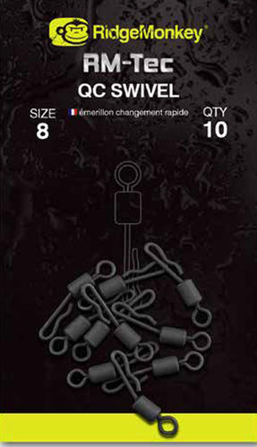 Ridge Monkey Tec Quick Change Swivels #8